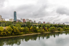 Edmonton from the River stock images