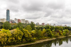 Edmonton from the River royalty free stock images