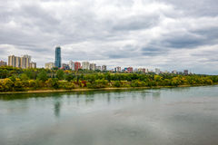 Edmonton from the River stock photos