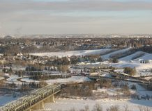 Edmonton River Valley Stock Photo