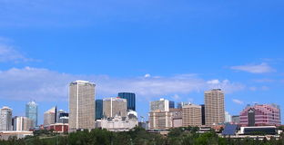 Edmonton Skyline. Skyline of Edmonton Alberta's downtown area stock images