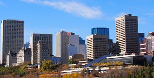 Edmonton Skyline In Autumn Stock Images