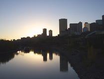 Edmonton Skyline At Dusk Royalty Free Stock Photos