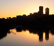 Edmonton Skyline At Dusk Royalty Free Stock Images