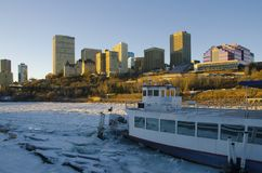 Edmonton skyline. Edmonton is the capital city of the Canadian province of Alberta. Edmonton is on the North Saskatchewan River and is the centre of the Edmonton Stock Image