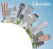 Edmonton Skyline with Gray Buildings, Blue Sky and Copy Space. Vector Illustration. Business Travel and Tourism Concept with Modern Buildings. Image for Stock Images