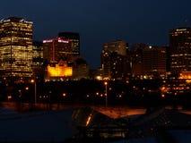 Edmonton Skyline At Night Royalty Free Stock Photos