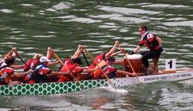 Edmonton smoka łodzi festiwal Zdjęcie Royalty Free