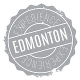 Edmonton stamp rubber grunge Stock Photos