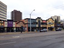 Edmonton street view Stock Photography