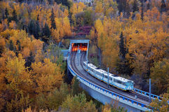edmonton transportu kolejowego światła Zdjęcia Royalty Free