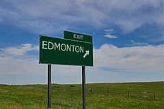 Edmonton. US Highway Exit Sign for Edmonton Royalty Free Stock Images