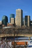 Edmonton in Winter. A view of downtown highrises in edmonton alberta in the winter Stock Photos