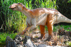 Edmontosaurus dinosaur with babys in nest site Stock Photography