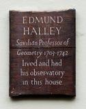 Edmund Halley Plaque Royalty Free Stock Image