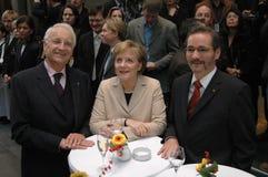 Edmund Stoiber, Angela Merkel, Matthias Platzeck Stock Images