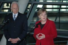 Edmund Stoiber, Angela Merkel Royalty Free Stock Photos