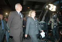 Edmund Stoiber, Angela Merkel Royalty Free Stock Photo