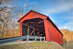 Edna Collings Covered Bridge at Sundown Stock Images