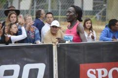 Edna Kiplagat Runner Stock Foto
