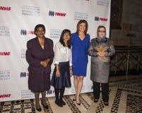 Edna Machirori, Bopha Phorn, Norah O'Donnell und Najiba Ayubi Lizenzfreie Stockfotografie