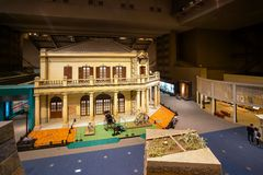 Edo Tokyo Museum i Tokyo, Japan royaltyfria bilder