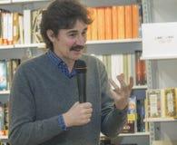 Edoardo Winspeare talking microphone Royalty Free Stock Photography