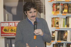 Edoardo Winspeare talking microphone Stock Image