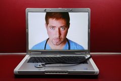Edoctor in Laptop Stock Photography