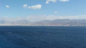 Edom berg i Eilat royaltyfria bilder