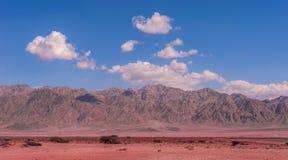 Edom Mountains over the Arava desert Stock Image