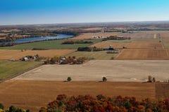 Edredão de retalhos aérea do outono Fotografia de Stock