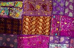 Edredão de retalhos indiana Imagens de Stock