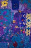 Edredão de retalhos indiana 2 Imagem de Stock Royalty Free