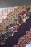 Edredão scalloped feito a mão Amish da borda imagens de stock