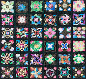Edredón compuesto de cuadrados Fotos de archivo libres de regalías