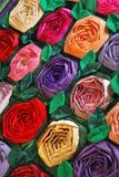 Edredón de remiendo con las flores Imagenes de archivo