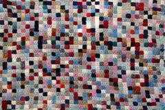 Edredón de remiendo handcrafted colorido Fotos de archivo libres de regalías