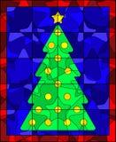 Edredón del árbol de navidad Fotos de archivo