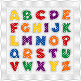 Edredón del alfabeto en colores primarios Foto de archivo libre de regalías