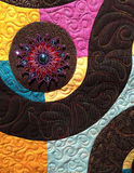 Edredón moderno Handcrafted de la tela de algodón del diseño de la estrella foto de archivo