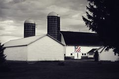 Edredón patriótico del granero fotos de archivo libres de regalías