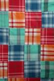Edredón de la tela escocesa de Madras Imagen de archivo libre de regalías