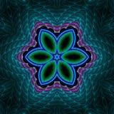 Edredón floral de la estrella del acoplamiento Foto de archivo