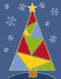 Edredón rústico del árbol de navidad Foto de archivo