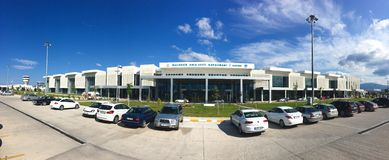 Edremit koca Seyit International airport.Previously known as Balikesir Edremit Korfez Airport.The Stock Photography