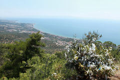 Edremit Sea Inlet from Zeus Temple. Stock Photography