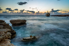 Edro III Shipwreck . Royalty Free Stock Image