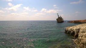 Edro III wraku statek w Pegeia, Cypr zbiory wideo