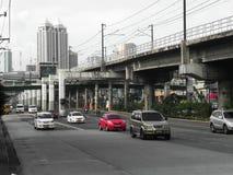 EDSA y MRT Fotos de archivo libres de regalías
